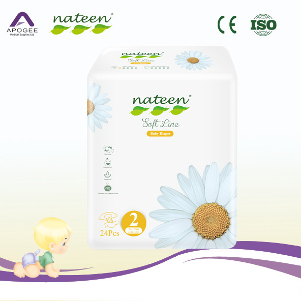 Soft line comfortable and absorbent baby diaper