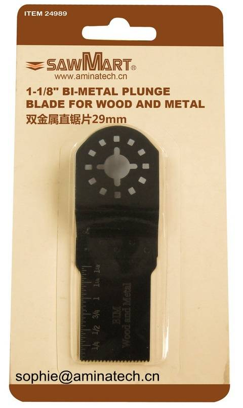 1-1/8 in. Bi-metal Oscillating  Multi-Tool plunge blade for wood and metal