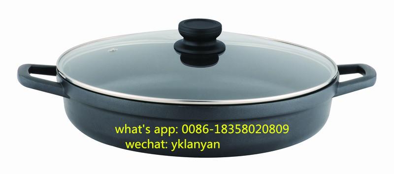 40CM Die cast aluminium shallow casserole paella pan