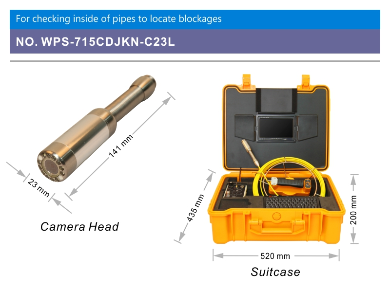 WOPSON sewer pipe inspection camera waterproof IP68