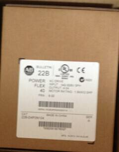 Allen Bradley PowerFlex inverter 22A-D2P3N104