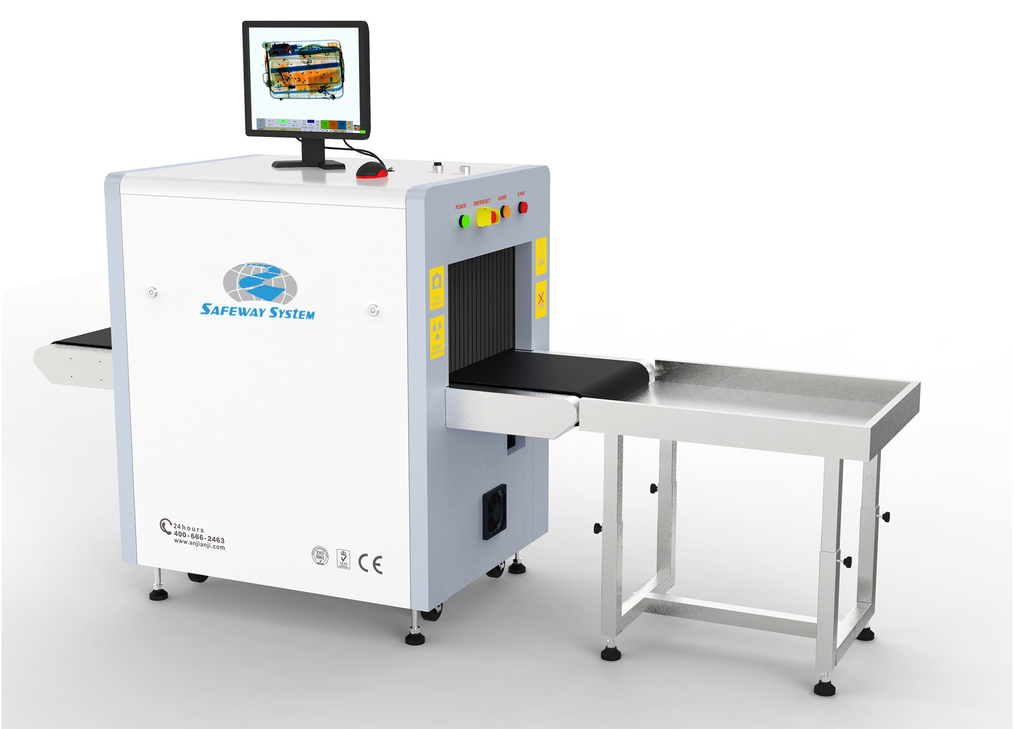 Small Tunnel Baggage and Cargo X-ray Scanner with High Precision