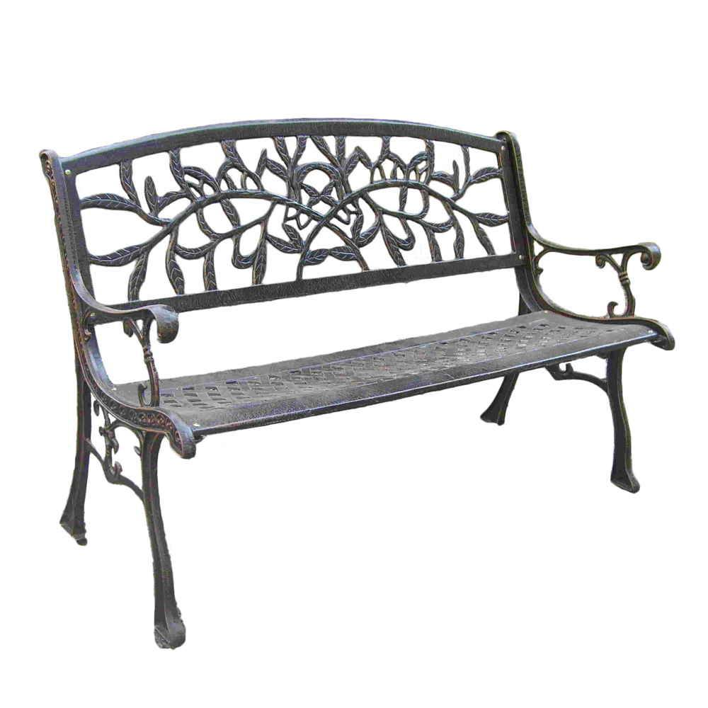 Heavy iron patio bench G263B