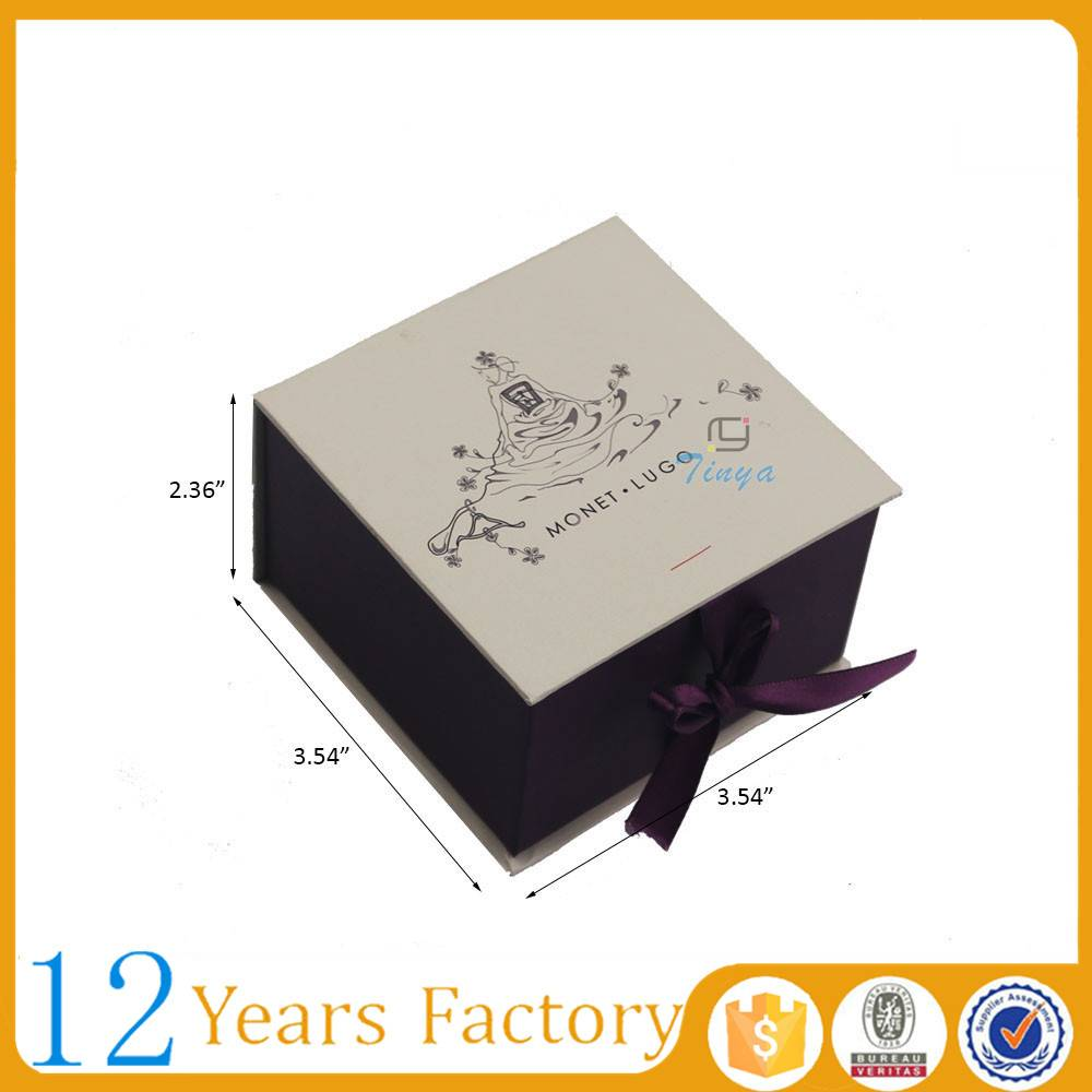luxe ribbon gift packaging jewelry box