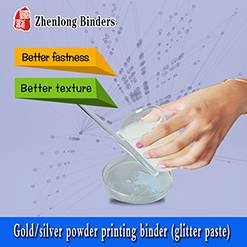 Gold/silver powder printing binder (glitter paste) TS06J-15