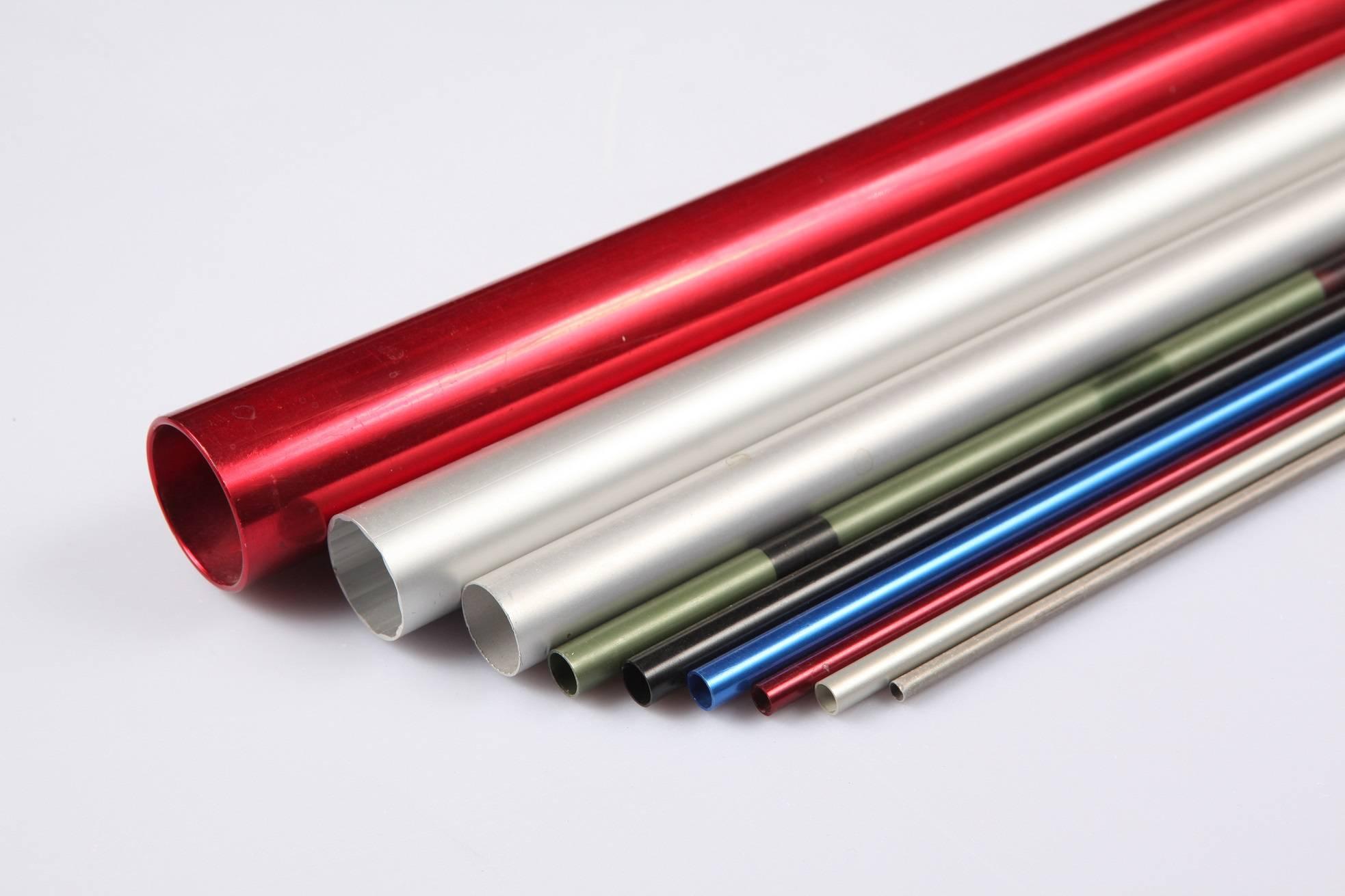 colorfull customized sizes extrusion aluminum aluminum pipes