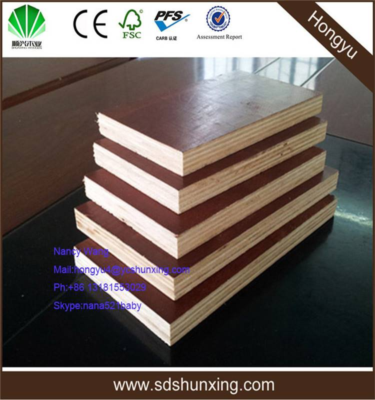 melamine laminated faced shuttering plywood