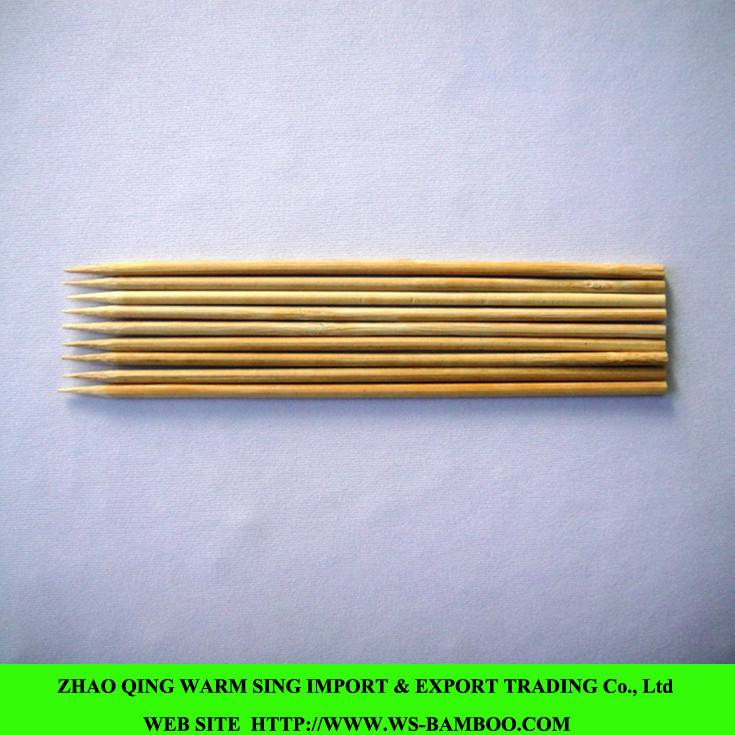 250mmX3.0mm natural bamboo skewers for BBQ