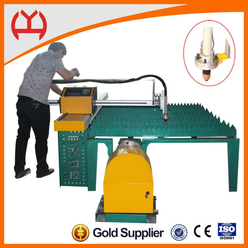 Steel plate correction function metal pipe circle flame cutter