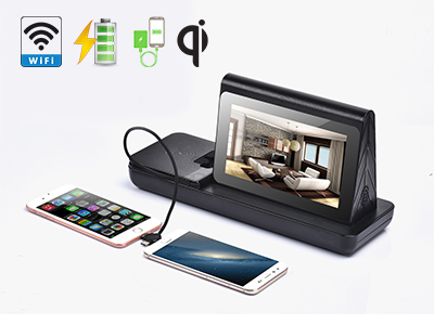 Coffee Shop 7'' LCD Table Advertising Player Mobile Wireless Charging Station FYD838SD