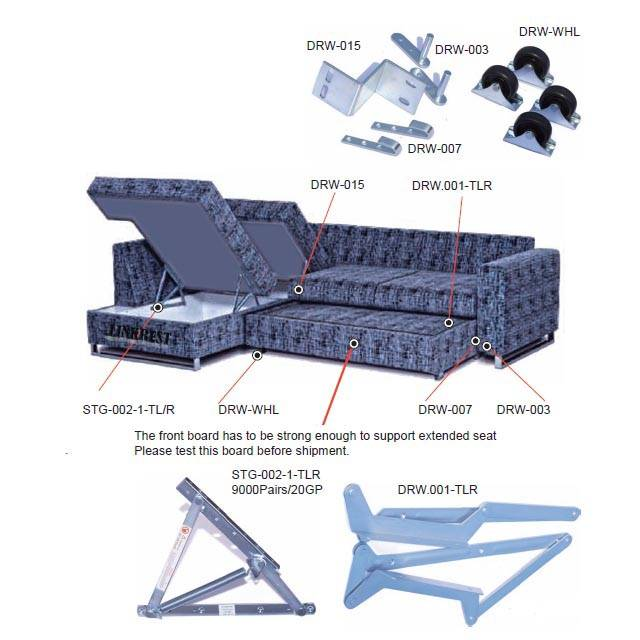 Draw Out sofabed mechanism