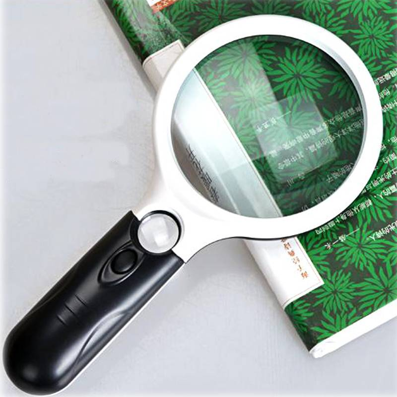 Hot Sale Newest 3LED light 45x 3x Handheld Reading Magnifying Glass Magnifier