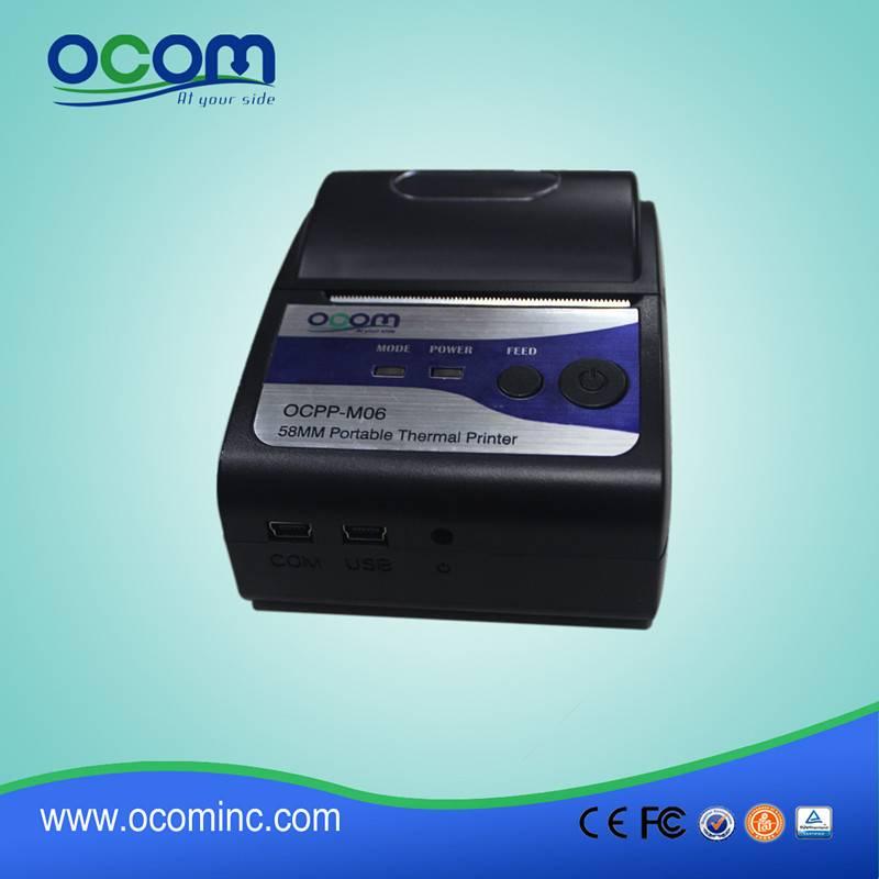 Protable mini bluetooth mobile receipt thermal printer