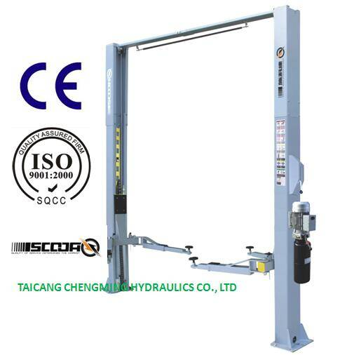 Extension Column Clear Floor Two Post Car Lift Manual Lock Release with Ce ISO
