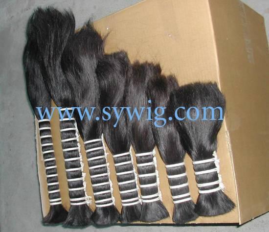 double drawn hair/virgin hair/raw human hair