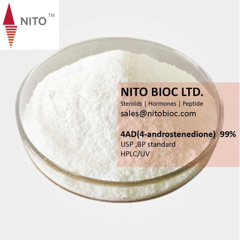NITO GMP factory quality 4AD(4-androstenedione) for bodybuilding steriods hormone