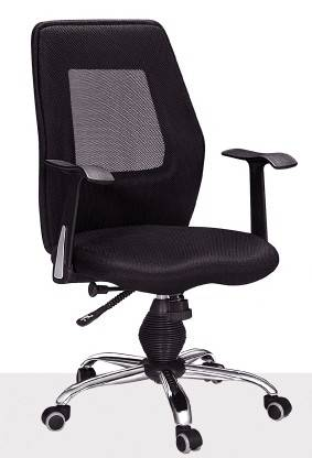 S-201,the black mesh office chair with wheels and armrest