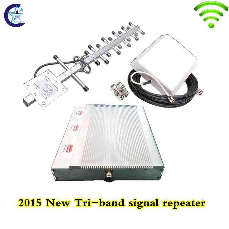 2015 hot sale pico tri band 2g 3g 4g mobile signal repeater booster amplifier