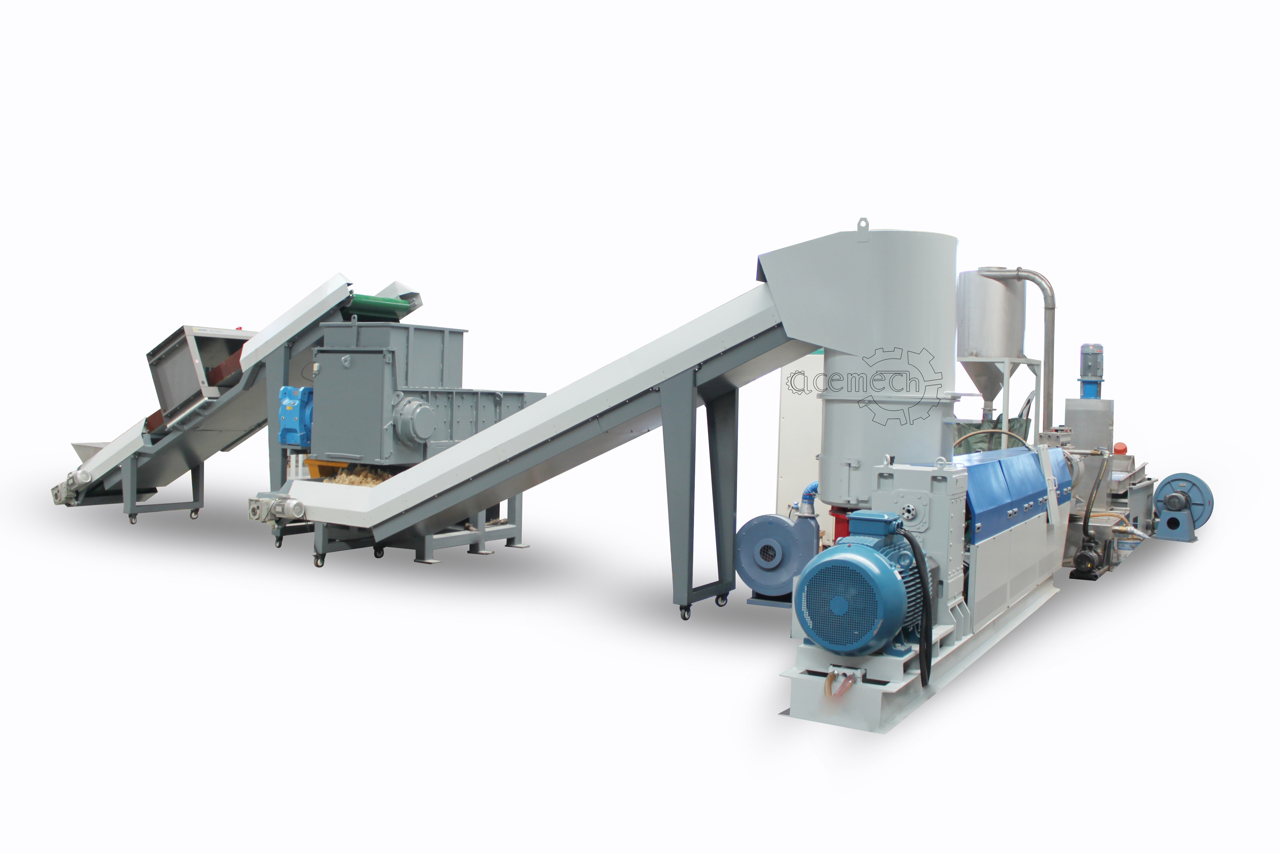 PE/PP/PS/ABS/PA grinding rigid plastic pelletizing line