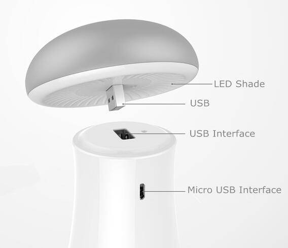 Mini wireless warm LED night light USB port Low consumption easy taking with power bank