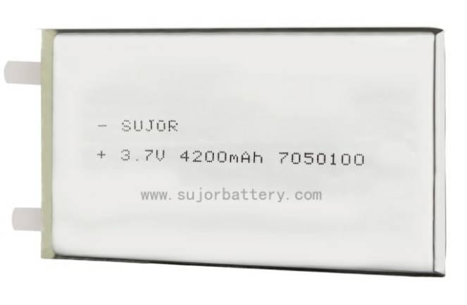 Lithium polymer battery for portable medical equipment 3.7V PL7050100