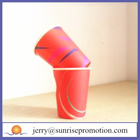 2015 Single wall printed 12oz custom printed paper cups