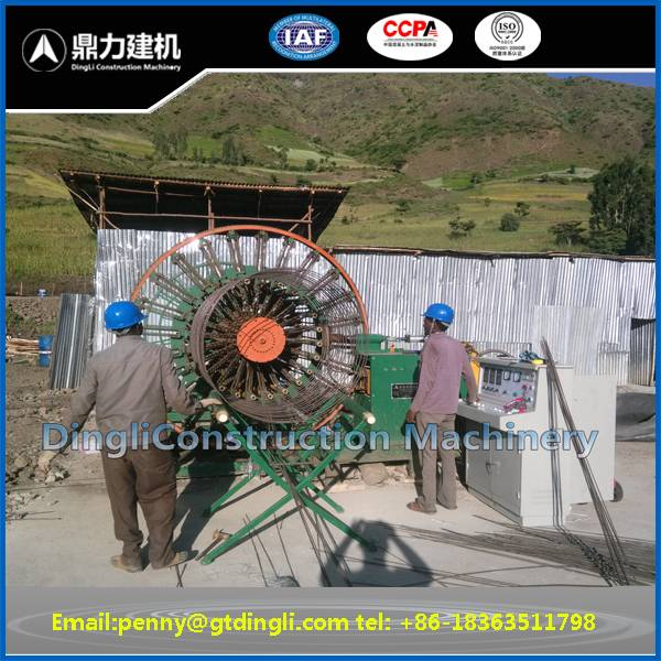 Reinforced concrete pipe cage welding machine