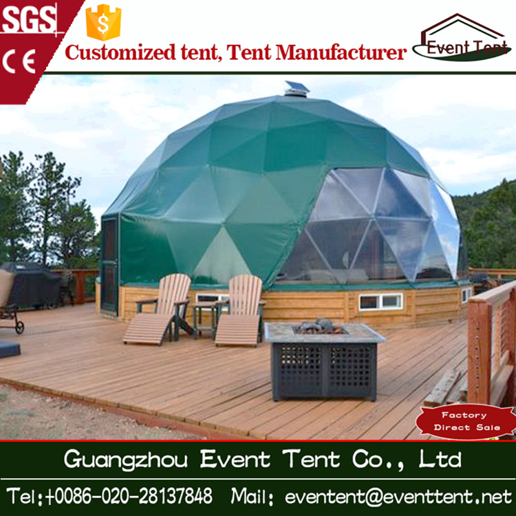 Diameter 6 m aluminium dome tent with heat system for cold outdoor living