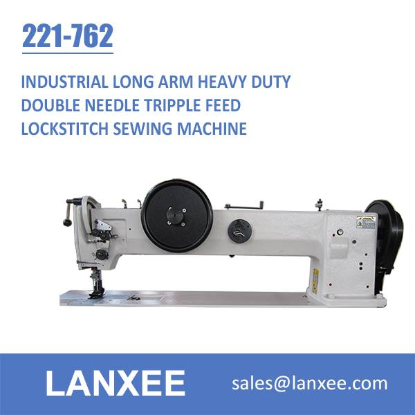 Lanxee 221-762 Double Needle Heavy Duty Long Arm Sewing Machine