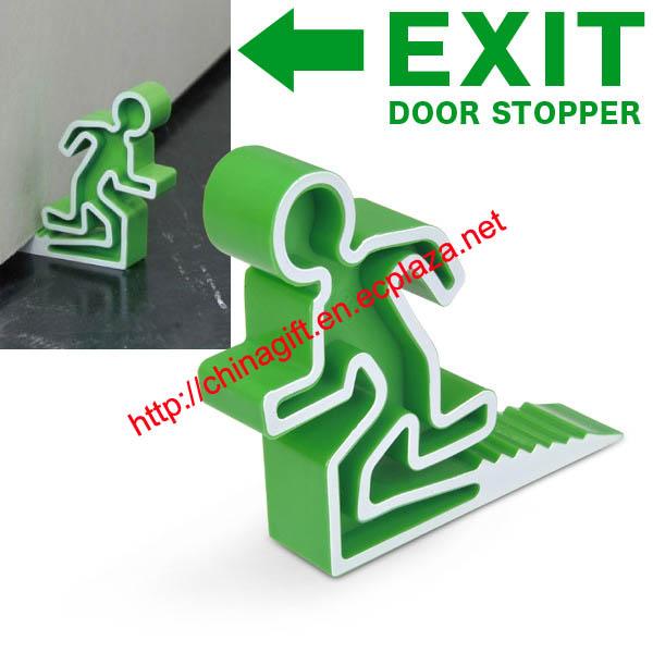 Emergency exit door stopper