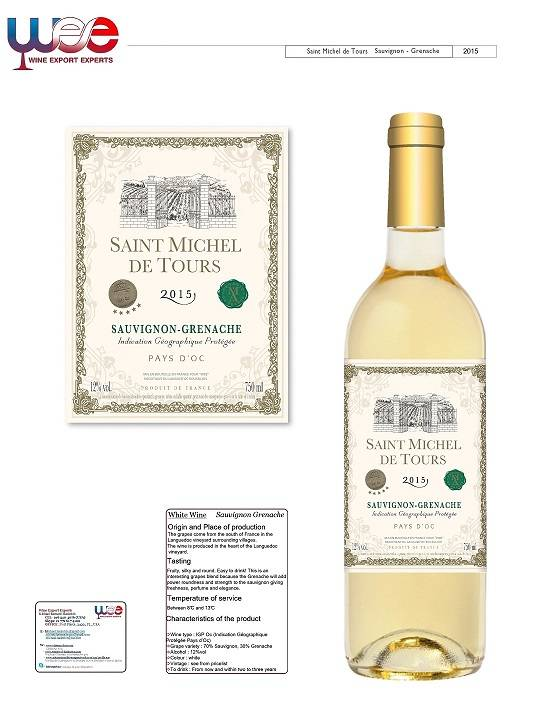 VDP VIN DE PAYS FRENCH WHITE WINE LANGUEDOC ROUSSILLON