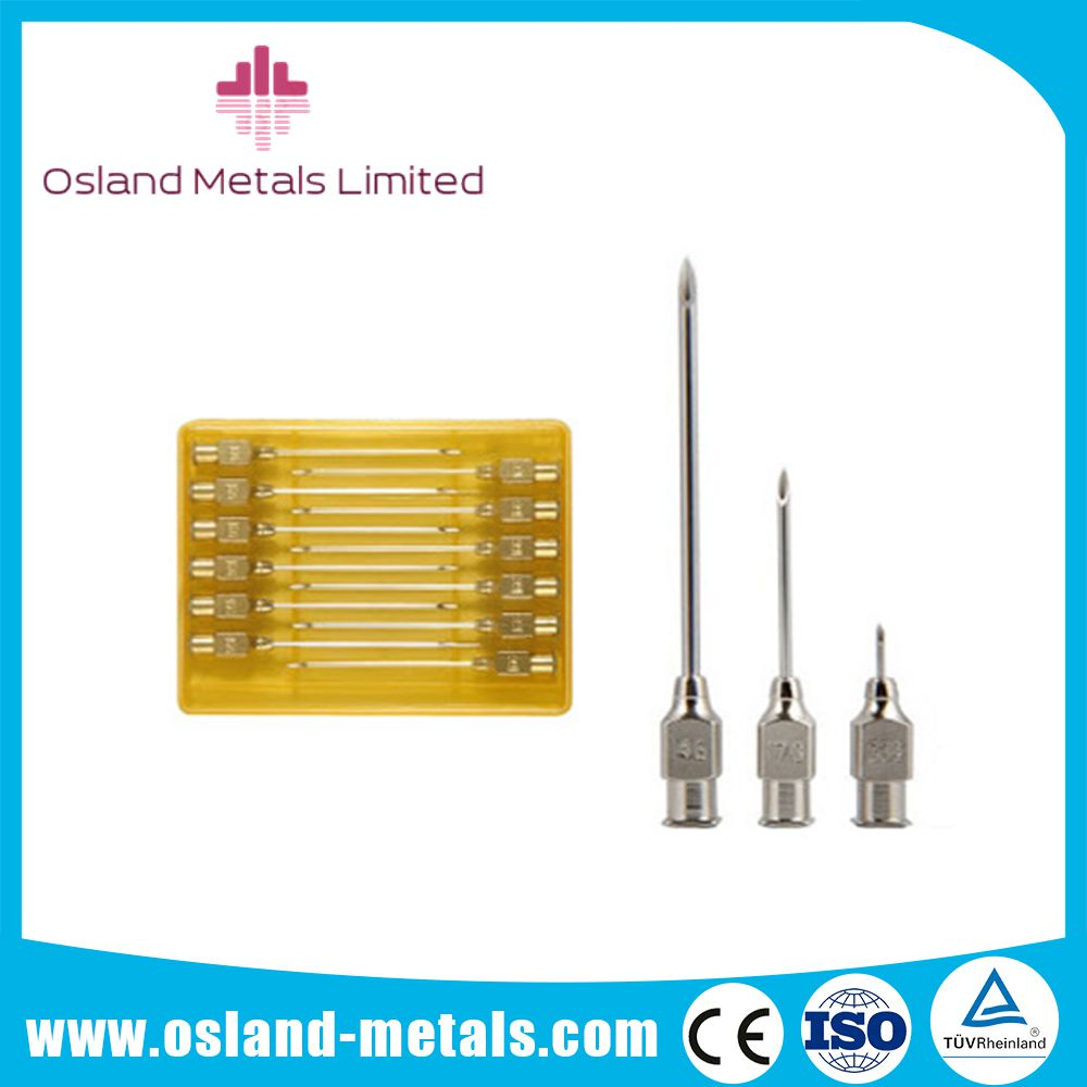 Stainless steel luer lock veterinary needles
