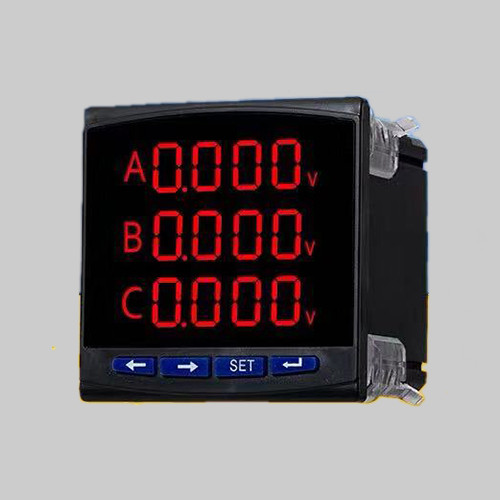 Three phase programmable voltmeter true RMS measurement