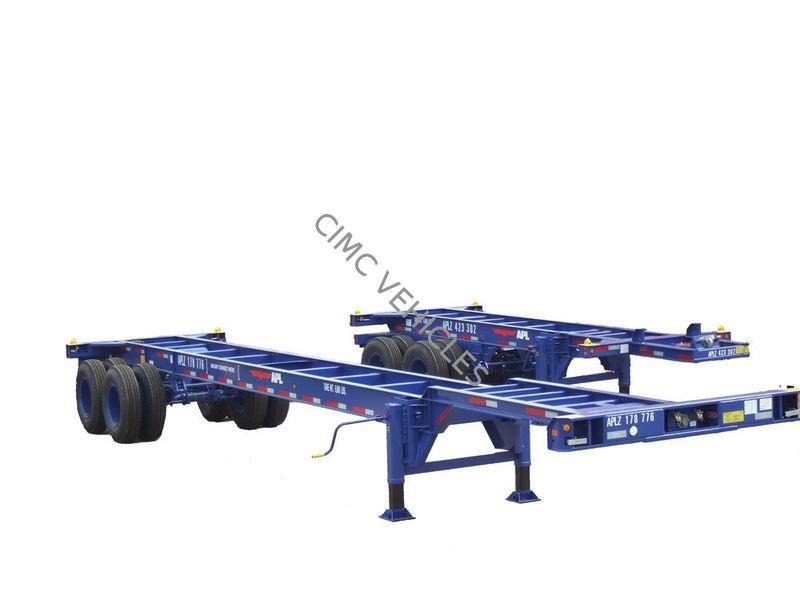 23.5ft Sliding chassis/40ft Gooseneck Trailer two axle