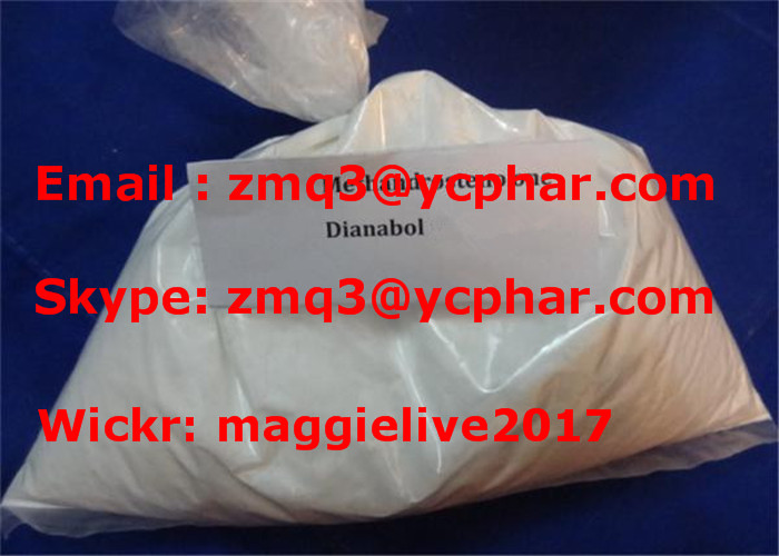 98% Androgen Protein Synthesis Muscle Building Steroids Powder Metandienone Dianabol CAS 72-63-9