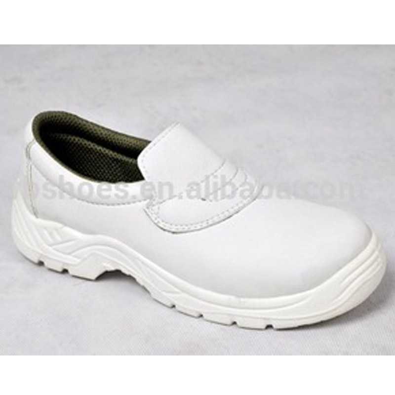 Low Cut White Microfibre Upper PU Sole Safety Shoes