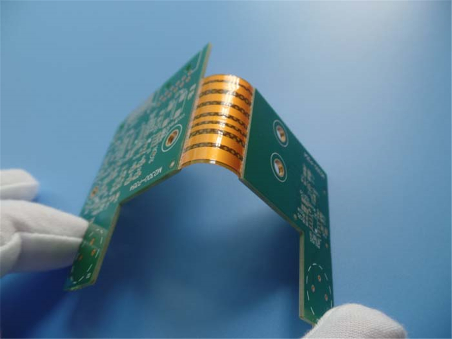 Multilayer flexible PCBs 4 layer Rigid-flex PCBs with 1.6mm Fr4 &0.2mm Polyimide PCBs
