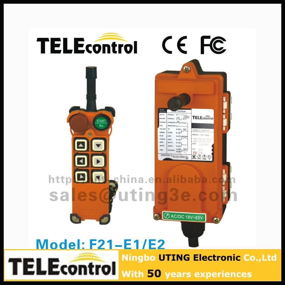 12V Telecontrol uting 6 buttons 1 speed F21-E1Wireless Remote Control For Crane And Hoist Industrial