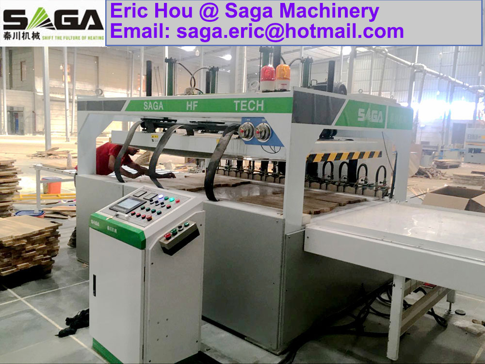 High Frequency Edge Gluing Press Machine HF Wood Gluer