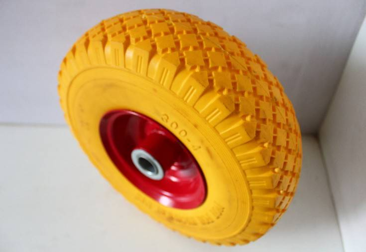 300-4 PU foam wheel  solid wheel  with good quaility