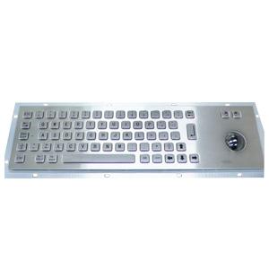 392x110 mm flat key kiosk stainless steel metal keyboard