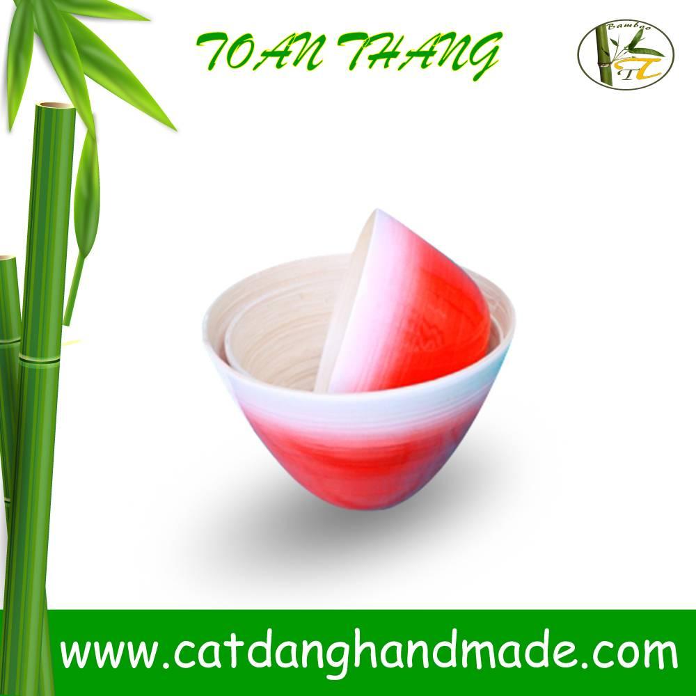 Vietnam spun bamboo bowl, bamboo fiber bowl