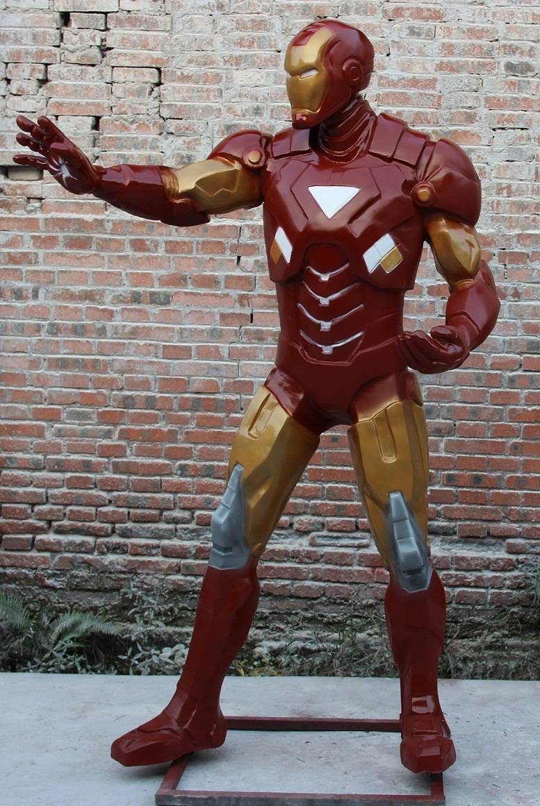 FRP Marvel Characters Statue Life-size Iron Man