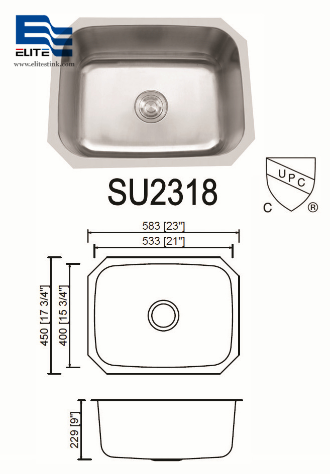 Stainless Steel Undermount bar Sink small