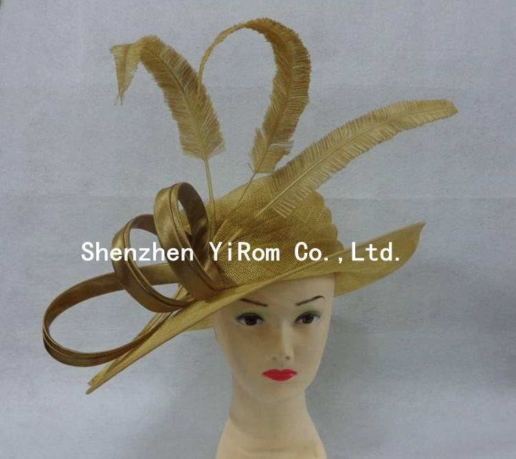 YRSM14081 sinamay hat, cocktail hat,kentucky derby hat,race hat,church hat