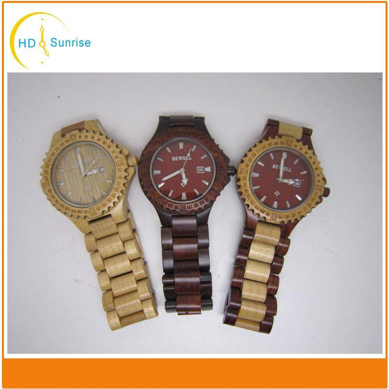 2016 Fashion Jewelry New Product and China Wholesale Wooden Watch with Big Face for Men