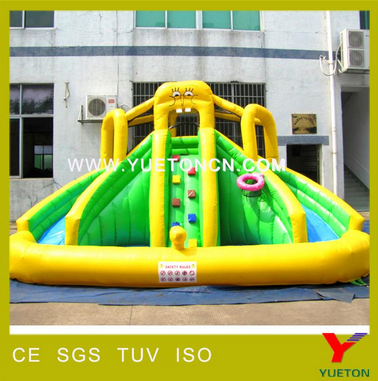 2017 Popular giant water park inflatable water slides for sale