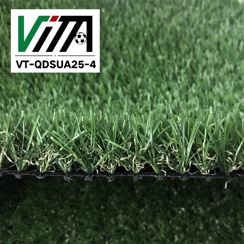 Landscaping decorative thick green artificial grass VT-QDSUA25-4
