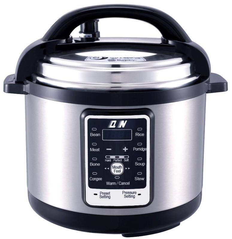 Model#D6J1 black Hard anodised pressure cooker