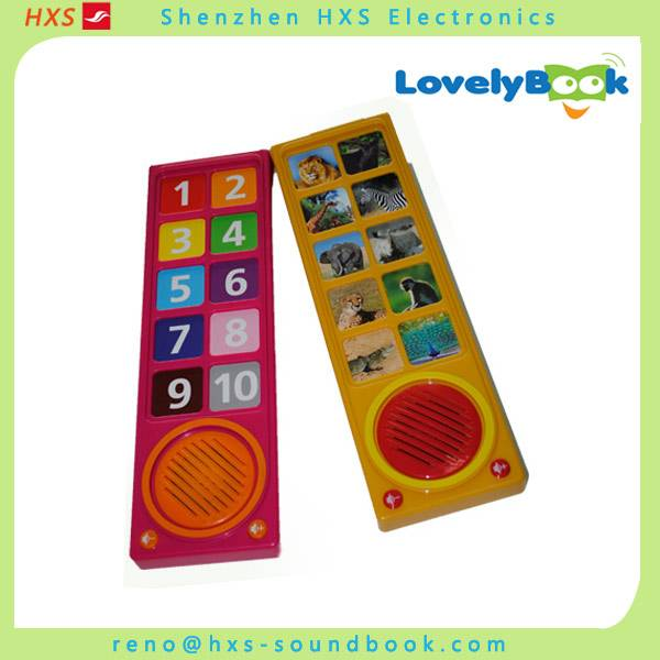 Custom 10-buttons Sound Box For Kids Books